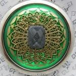 Compact Mirror Green with B..