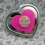 Hot Pink Heart And Polka D..