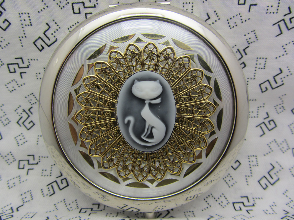 Compact Mirror Retro Kitty