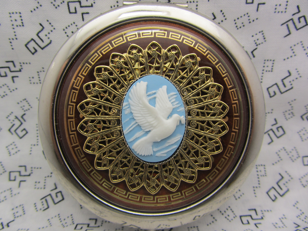 Bridesmaid Gift Compact Mirror The Love Dove