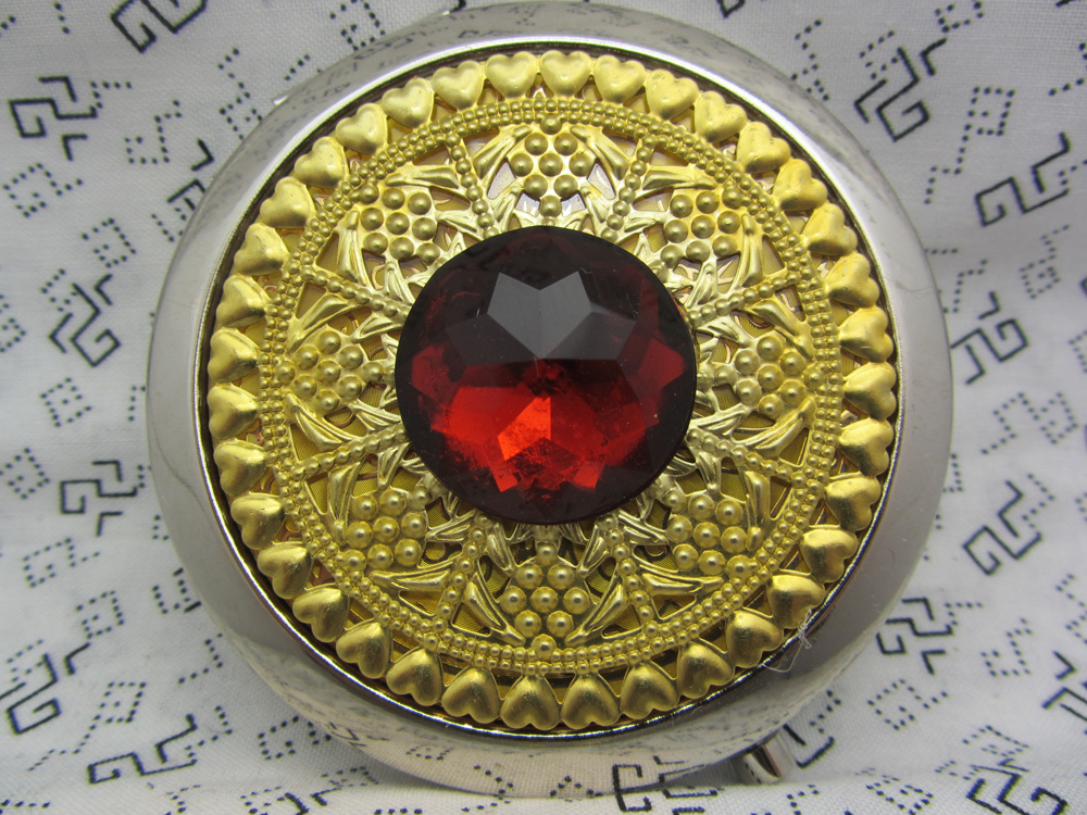 Compact Mirror The Big Bling In Red