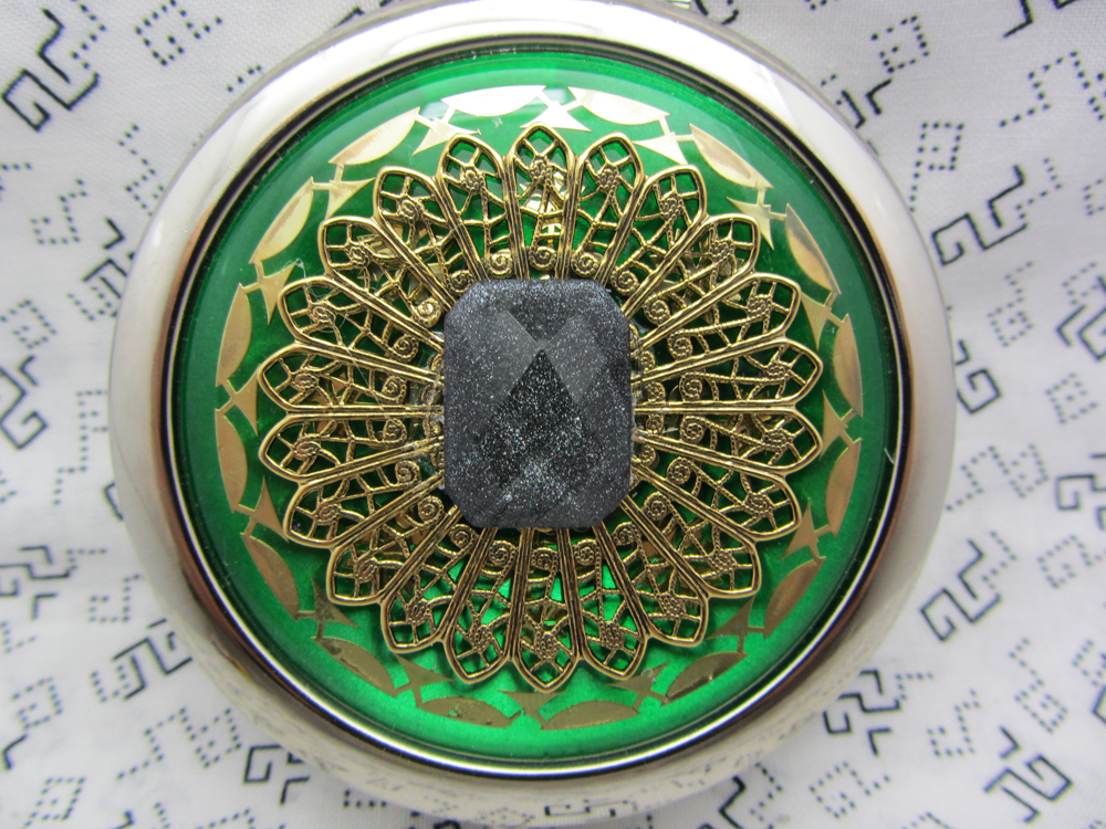 Compact Mirror Green with Black Shimmer