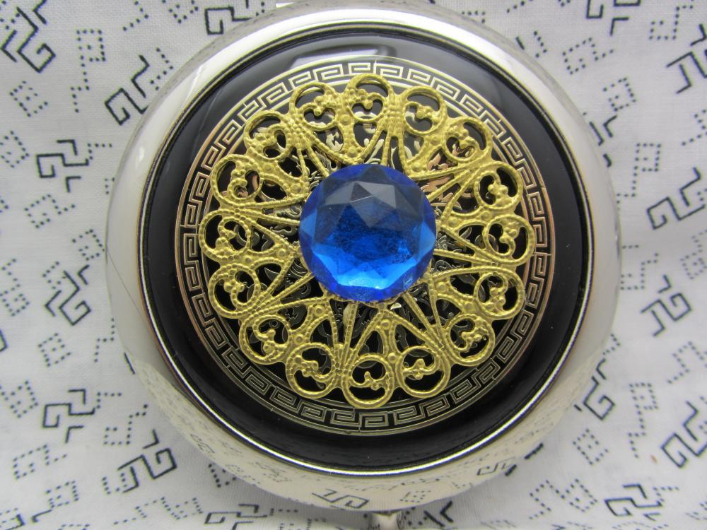 Compact Mirror Black and Blue