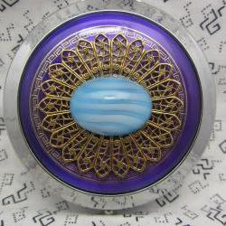 Compact Mirror Purple and Blue